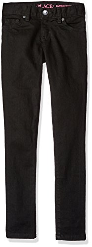 The Children's Place Girls Slim Size Super Skinny Jeans, Black 44365, 5