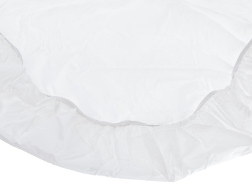 Kwik-Cover 48UM-W 48'' Round UMBRELLA Kwik-Cover- White Fitted Table Cover (1 full case of 100) by Kwik-Covers