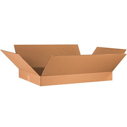 Aviditi 36244 Flat Corrugated Box, 36'' Length x 24'' Width x 4'' Height, Kraft (Bundle of 10) by Aviditi