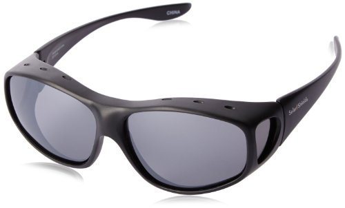 Solar Shield Yukon Polarized Square Sunglasses ,Black,54 - Sunglasses Sun Polarized Shield