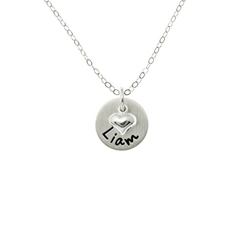 Flat Lucky One Personalized Sterling Silver Name Necklace. Customize with name of your choice. Matte Finish. Choice of Sterling Silver Chain. Gifts for Her, Mom, Wife, Girlfriend, Grandmother