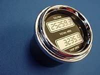 Black Bezel Engine Hour Meter Dual Display for Any Semi,Truck Car or Other Auto