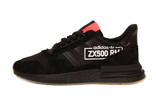 adidas ZX 500 Boost, Core Black / Flash Red, 11 (Adidas Zx Shoes)