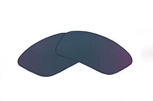 SFx Replacement Sunglass Lenses fits Smith Gibson 60mm wide (Ultimate Blue Mirror Black Pair-Regular)