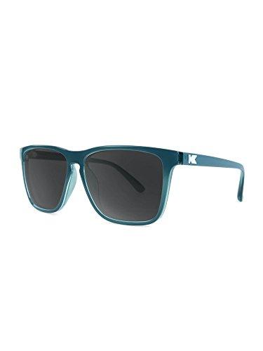 Knockaround Fast Lanes Polarized Sunglasses, Glossy Teal/Smoke -