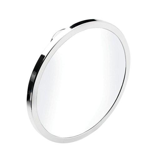 (Croydex QM381041YW Stick N Lock Plus 6-1/4-Inch x 6-1/4-Inch Anti-Fog Wall Mirror, Chrome)