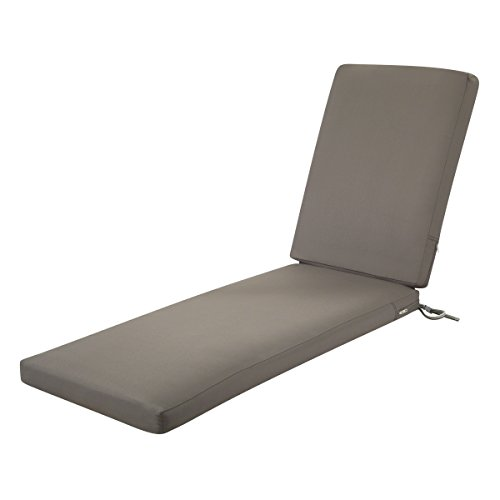- Classic Accessories Ravenna Outdoor Patio Chaise Lounge Cushion, Dark Taupe, 72