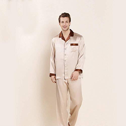 Del Uomo Manica Loungewear E Homewear 2 Set Cosy Pantaloni Pezzi Semplice Stile Autunno Da Sleepwear Lunga Lightbrown Top Primavera Pigiama Bathwear 75qw6gIpg