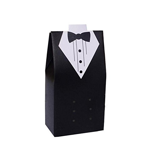 BleuMoo 10Pcs Candy Bag Candy Box For Wedding Favors Gift For Wedding Groom Wedding Dresses Party Dresses New Year Decoration