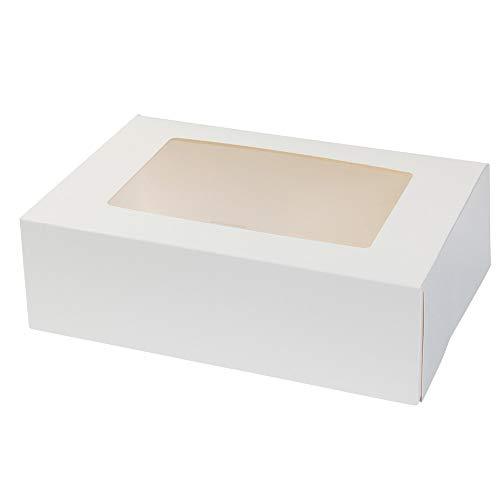 BIOZOYG Cajas para 6 Magdalenas, Cupcake Muffin con Inserto y Ventana de visión Grande I 25 Pieza de Cajas para pastelería Cajas de Regalo Bio Caja Blanca ...