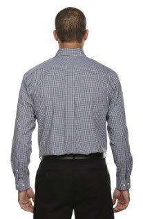 Averill's Sharper Uniforms Men's Server Fine Gingham Check No-Iron Shirt 3XL (54-56) Navy Gingham by Averill's Sharper Uniforms (Image #2)