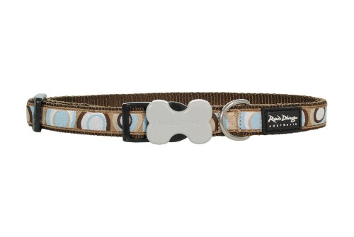 Red Dingo Designer Dog Collar, Large, Circadelic Brown