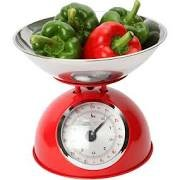Dexam-Retro-Kitchen-Scales-In-Red-2L-Stainless-Steel-Bowl-Weighs-Up-To-5Kg
