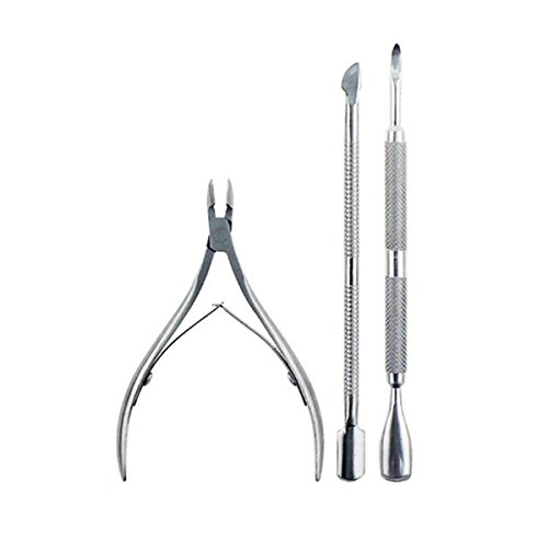 er with Cuticle Pusher Professional Grade Stainless Steel Cuticle Remover and Cutter Durable Manicure and Pedicure Tool Professional Nail Care Cuticle Trimmer ()