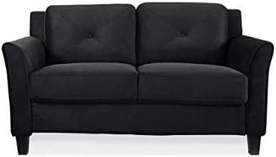 Harper Tufted Tufted Back Cushion Microfiber Loveseat