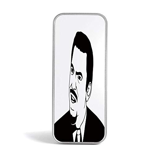 Tin Box,Humor Decor,Gift,Jewelery and Storage Tin Kit,Home Organizer,Scary Internet Meme with Why You No Expression Angry Trolling Chat Digital -