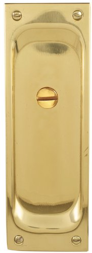 Emtek 2105 7-1/2'' Height Solid Brass Privacy Pocket Door Mortise Lock, Polished Chrome