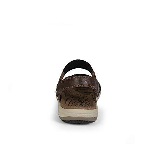 Simple Léger De Pantoufles vous Haute Sandales Casual Détendez Toe Tissé Ouvertes Marron Hommes Ruban Foncé Qualité Shennanji Respirant Mode Extérieurs C7P4vxWn