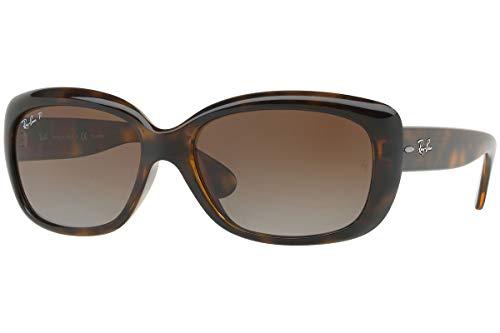 Ray-Ban Women's RB4101 Jackie Ohh Sunglasses, Light Tortoise/Polarized Brown Gradient, 58 mm (Rayban Sonnenbrille Blau)
