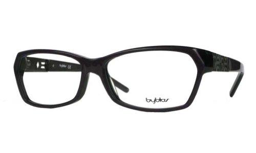 Byblos Glasses - Byblos Women's BY051 Violet Black (03) Frame Clear Lens Full Rim Eyeglasses 54mm