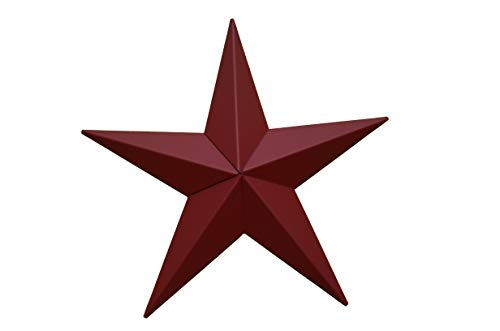 AMISH WARES 72 Inch Heavy Duty Metal Barn Star Painted Solid Cranberry. ()
