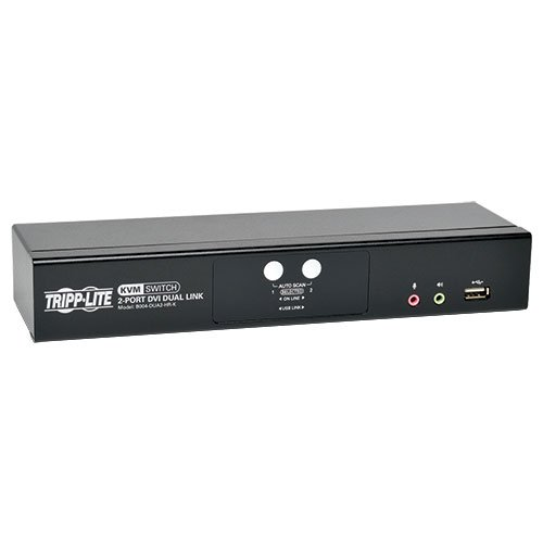 Tripp Lite 2-Port DVI Dual-Link/USB Desktop KVM Switch with Audio & Cables (B004-DUA2-HR-K) ()