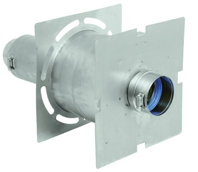 DuraVent W2-WT6 6 Inch Wall Thimble with Double Wall Construction and Adjustable Vent Length From the FasNSeal - Wall Vent Gas Thimble