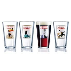 Luminarc Guinness 16-Ounce Assorted Pub Glasses 4 Count