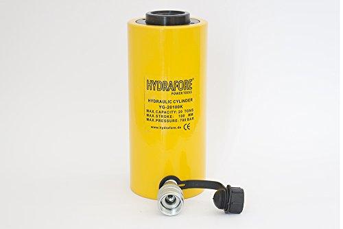 20 tons 4'' stroke Single acting Hollow Ram Hydraulic Cylinder Jack YG-20100K by HYDRAFORE