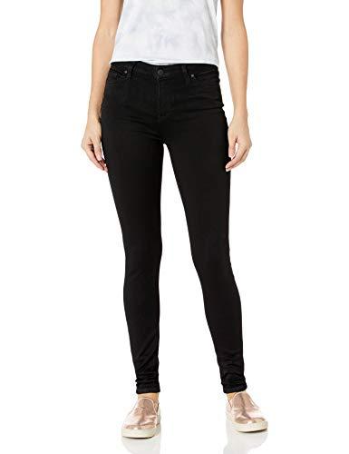 Celebrity Pink Jeans Women's Super Soft Mid Rise Skinny Jean, Black Rinse, 15