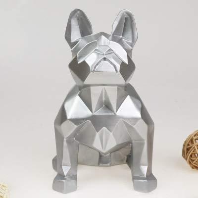 silver bulldog statue - 6