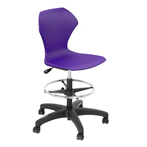 Series Adjustment Pneumatic Seat Swivel (Apex Series Chair 38203A-32BK-APU Adjustable Height Rolling Task Ch Purple-Seat, Black-Frame)