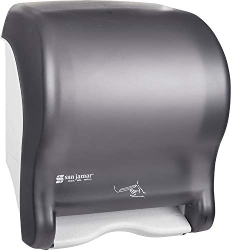 San Jamar T8400TBK Smart Essence Electronic Roll Towel Dispenser, 11.8w x 9.1d x 14.1''h, Black, Plastic by San Jamar (Image #5)