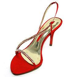 FARFALLA Satin Diamante Sandals Smokey cojNx