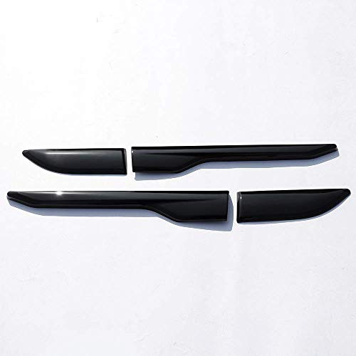 TongSheng ABS Chrome Side Door Fender Air Vent Outlet Trim Sticker 4pcs for Land Rover Range Rover Evoque 2011-2017 (Piano Black)