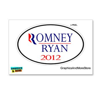 Romney Ryan Euro Oval - Outline - Window Bumper Locker - Outline Oval