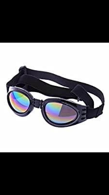 QUMY Dog Sunglasses Eye Wear Protection Waterproof Pet Goggles for Dogs about over 15 lbs by QPet