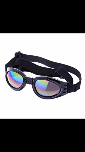 QUMY Dog Sunglasses Eye Wear Protection Waterproof Pet Goggles for Dogs about over 15 lbs