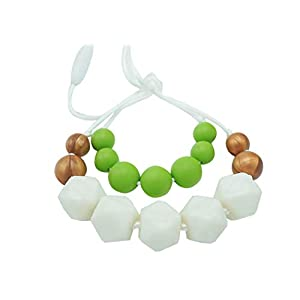 Baby Teething Necklace For Mom To Wear   Great New Mom Present   Nursing Necklace Silicone Teething Beads   Silicone Chewing Jewelry For Breastfeeding Babies Not Amber   Teething Rings For Babies