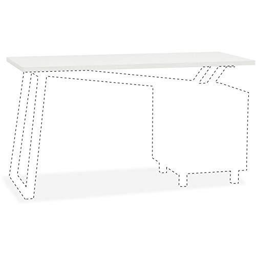 Mayline Glass Top for 2-Drawer Pedestal V-Desk Base - 0.31