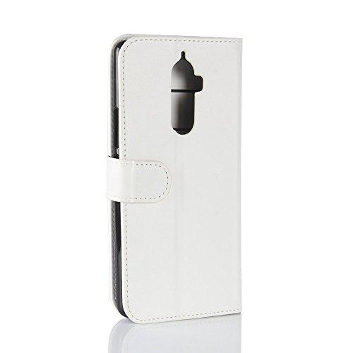 Lenovo K8 Note Funda, TOTOOSE PU Carcasa Flip Stand función ranuras de tarjetas de cubierta con cierre magnético Para Lenovo K8 Note-marrón Blanco