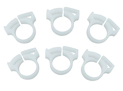 ATIE PoolSupplyTown Sweep Hose Attachment Clamp B15 Replace Polaris 180 280 360 380 Pool Cleaner Sweep Hose Attachment Clamp B15 B-15 (6 Pack)