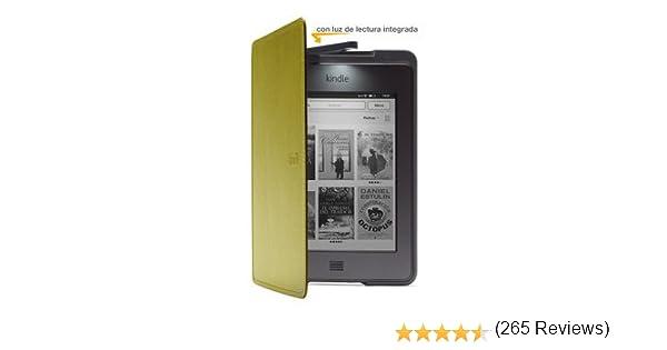 Funda de cuero con luz Amazon para Kindle Touch, color verde (sólo ...