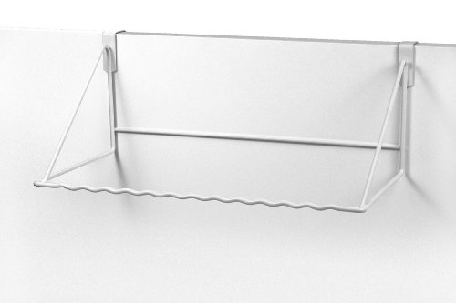 Spectrum Diversified Over the Door Clothes Hanging Rack, White