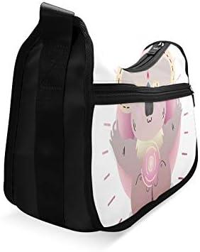 Animal Sitting In Yoga Lotus Pose Messenger Bag Crossbody Bag Large Durable Shoulder School Or Business Bag Oxford Fabric For Mens Womens