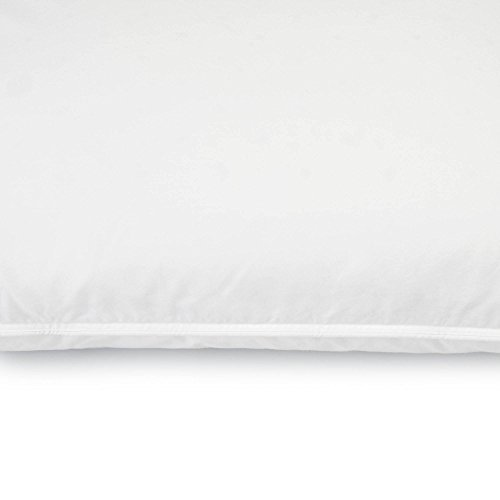 Sleep Innovations 2-in-1 Ventilated Memory Foam and Fiber Fill Pillow with 100% Cotton Cover, Made in the USA with a 5-year Warranty - King Size