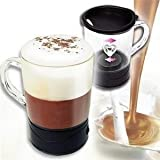 Unique Gadget Self Stirring Magic Mug Transparent Glass Coffee Mixing Cup Automatically