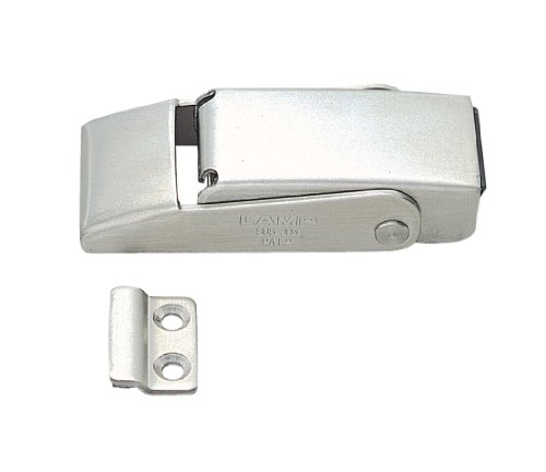 Stainless Steel 304 Spring Loaded Draw Latch, Satin Finish, Non Locking, 3 7/32