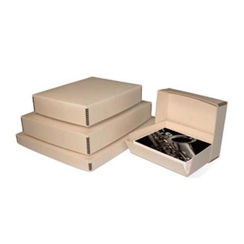 Print File Tan Drop-Front Metal Edge Archival Box 20.5x24.5x1.5'' by Print File