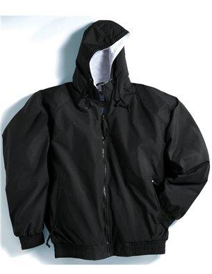 Premium Quality Men's Tall Sizes 100% Toughlan Nylon Bay Watch Jacket - Black, 6XLT by A&E Designs